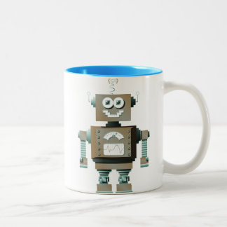 Taza retra del robot del juguete
