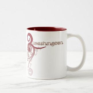 Taza rizada rosada de Washington del remolino