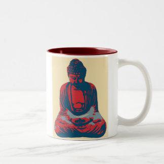 Taza roja de Buda