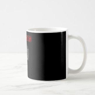 Taza roja de Coffe del engranaje de la barba
