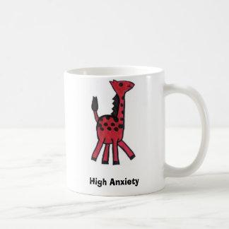"""Taza roja de la """"alta ansiedad"""" de la jirafa"""