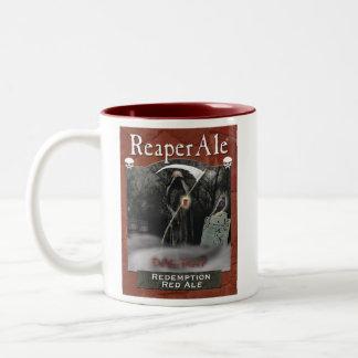 Taza roja de la cerveza inglesa del rescate