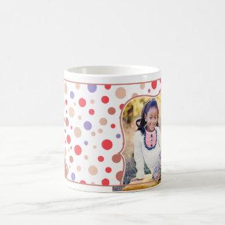 Taza roja de la foto retra para los niños