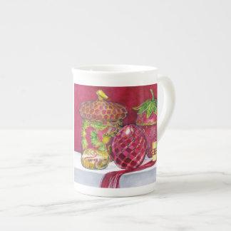 Taza roja de la porcelana de hueso de no. 5 de la  taza de porcelana
