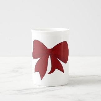 Taza roja de la porcelana de hueso del arco taza de porcelana