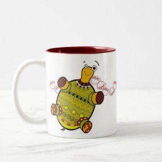 taza roja de la tortuga