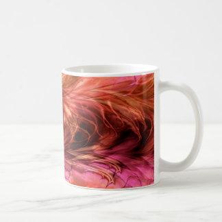 Taza roja de mármol del fractal