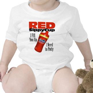 Taza roja de Sippy Trajes De Bebé