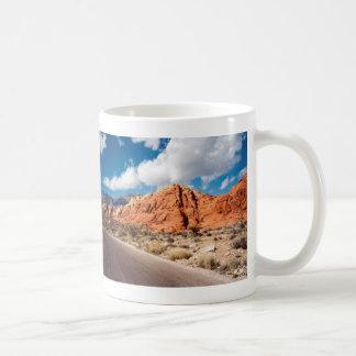 Taza roja del barranco de la roca