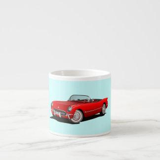 Taza roja del café express del Corvette del