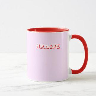 Taza roja del campanero de Nadine