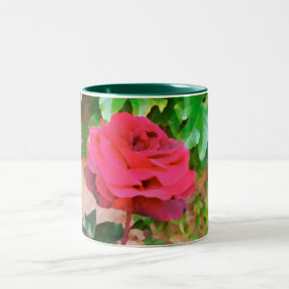 Taza roja del estuco del rosa color de rosa