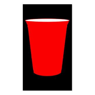 taza roja del fiesta tarjetas de visita