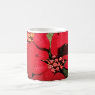 Taza roja del Poinsettia