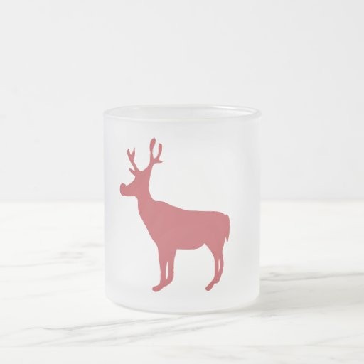 Taza roja del reno del navidad