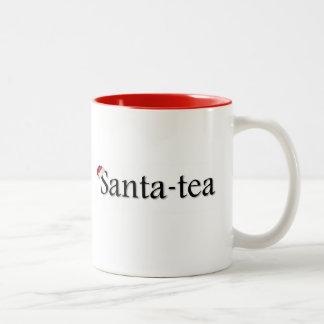 Taza roja del té del navidad del Santa-Té