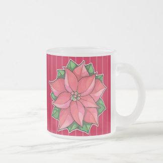 Taza roja del viaje de la alegría del Poinsettia