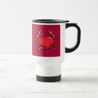 Taza roja del viaje del cangrejo rojo