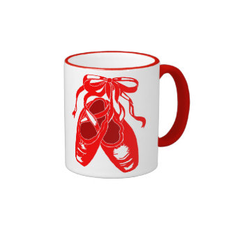 Taza roja Drinkware de los zapatos de ballet