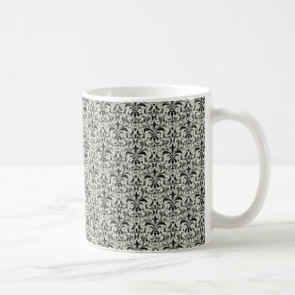 Taza romántica del damasco, gris