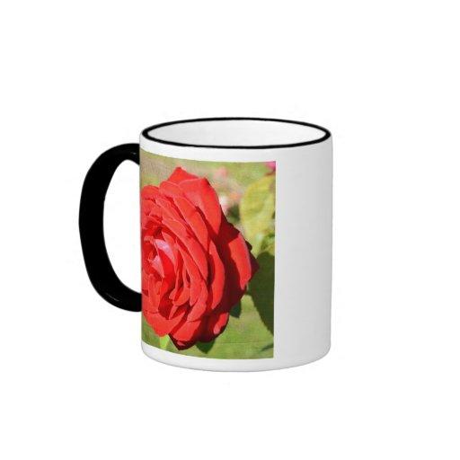 Taza romántica del rosa rojo