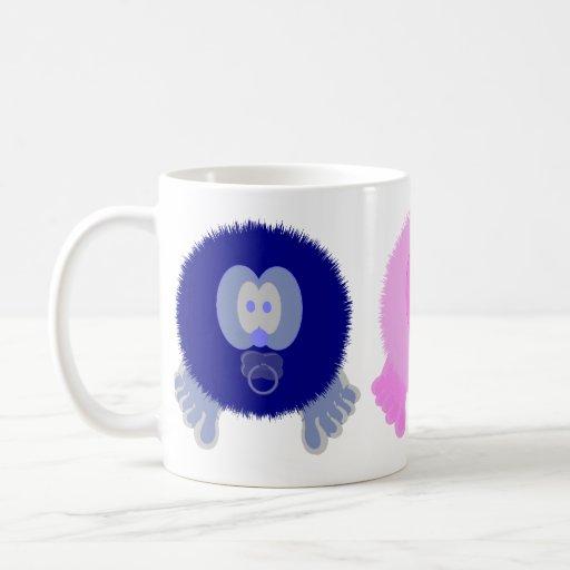 Taza rosada azul de los bebés de Pom Pom