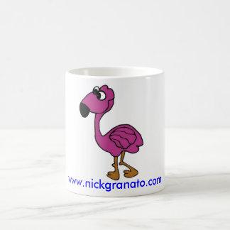 Taza rosada/de Flocker de la mascota de café