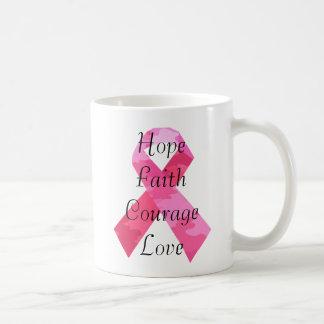 Taza rosada de la fe de la cinta del camuflaje