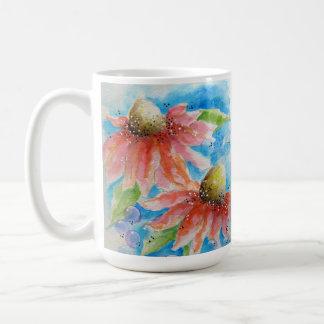 Taza rosada de la flor del cono
