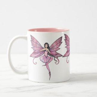 Taza rosada de la hada del baile