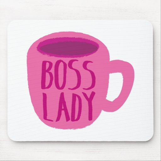 Taza rosada de la señora café de Boss Alfombrilla De Ratones