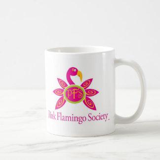 Taza rosada de la sociedad del flamenco