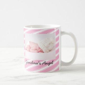 Taza rosada de la taza de café del modelo de las