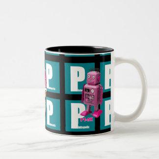 Taza rosada de las mascotas de Pinkopolis