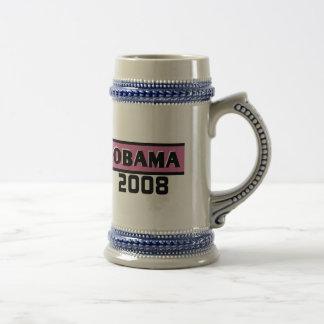 Taza rosada de Obama