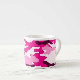 Taza rosada del café express del camuflaje tazita espresso