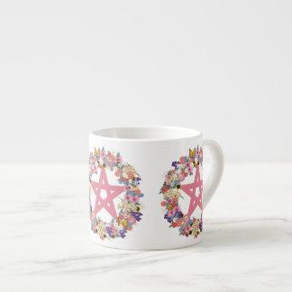 Taza rosada del café express del pentáculo taza espresso