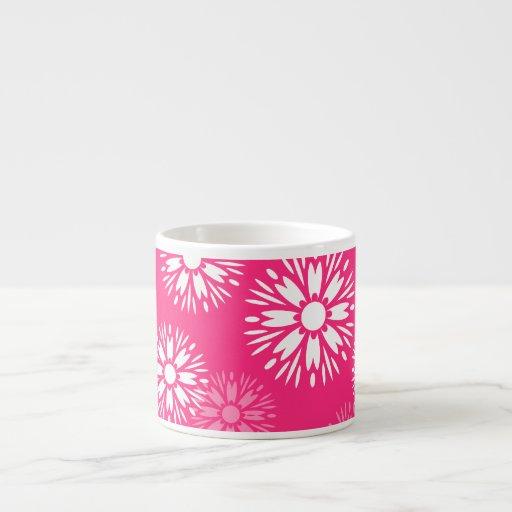 Taza rosada del café express del verano tazitas espresso