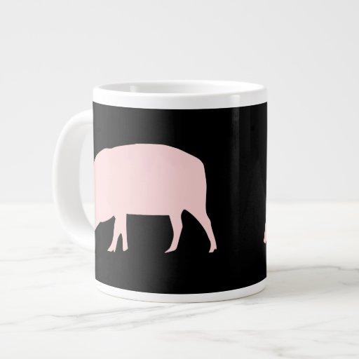 Taza rosada del cerdo taza grande