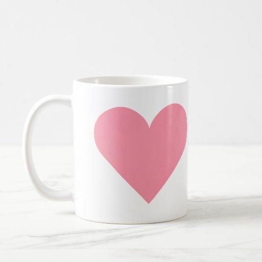 Taza rosada del corazón