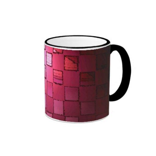 Taza rosada del cubo