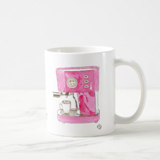 Taza rosada del fabricante de café express