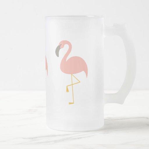 Taza rosada del flamenco