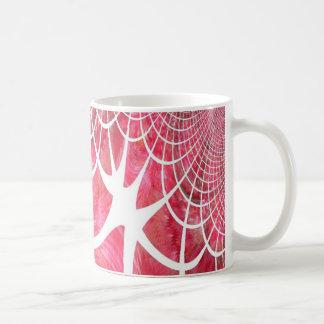 Taza rosada del fractal del árbol