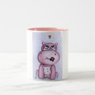Taza rosada del hipopótamo
