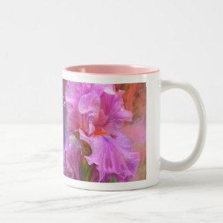 Taza rosada del iris de la diosa