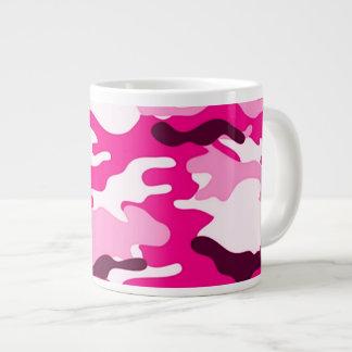 Taza rosada del jumbo del camuflaje taza extra grande