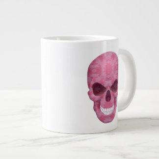 Taza rosada del jumbo del cráneo del camuflaje tazas extra grande