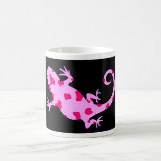 Taza rosada del lagarto