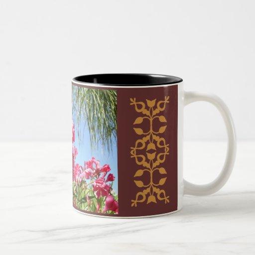 Taza rosada del Oleander